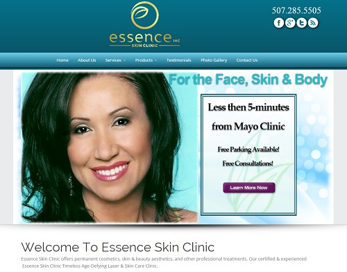 Website Essence Skin Clinic